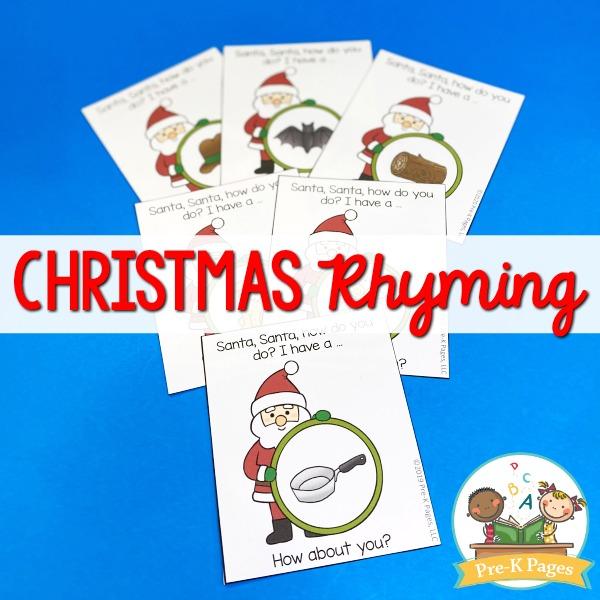 Christmas Rhyming Game