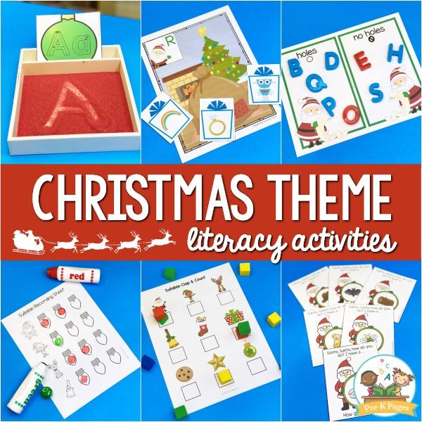 Christmas Theme Literacy Activities