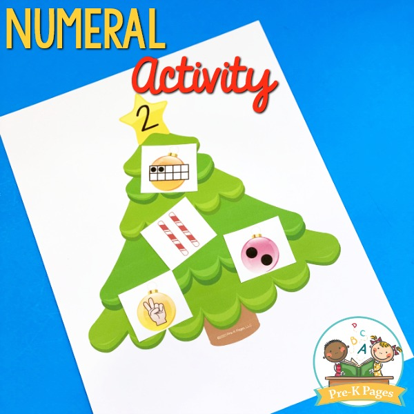 Christmas Theme Numeral Quantity Activity