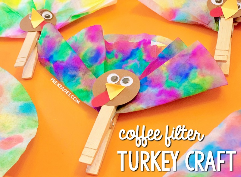 Coffee Filter Turkey Craft for Thanksgiving