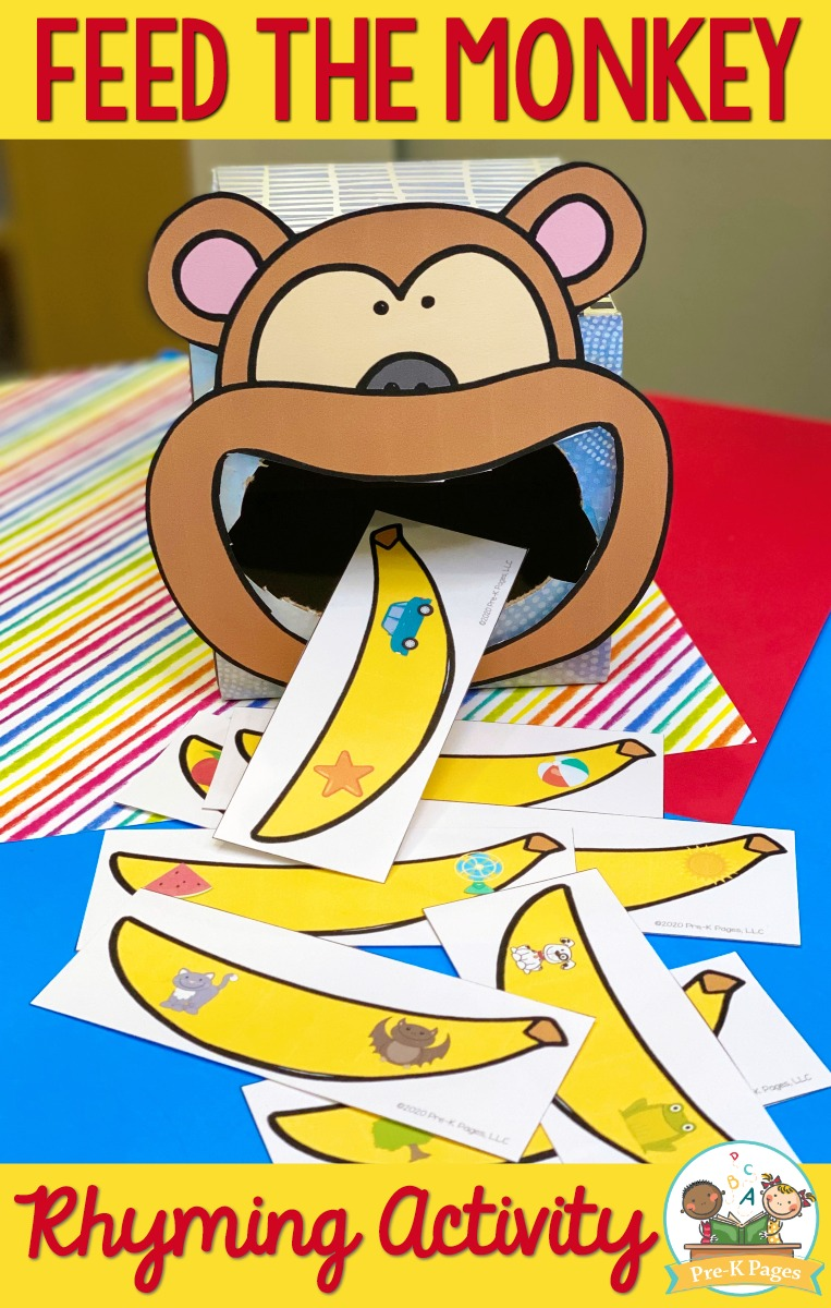 Feed the Monkey Rhyming Game