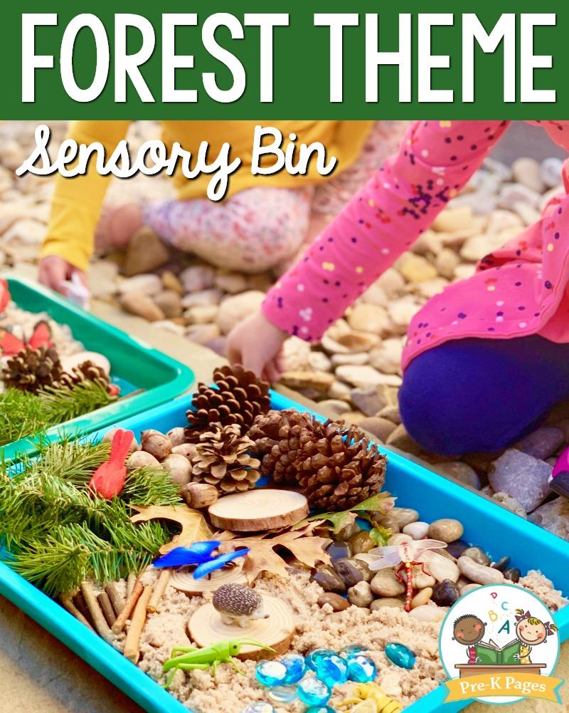 Forest Animals Sensory Bin