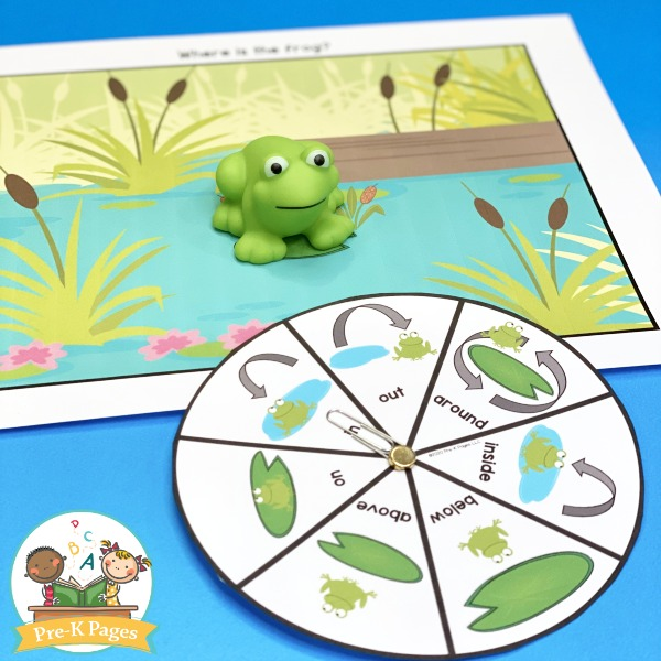 Frog Positional Words Game