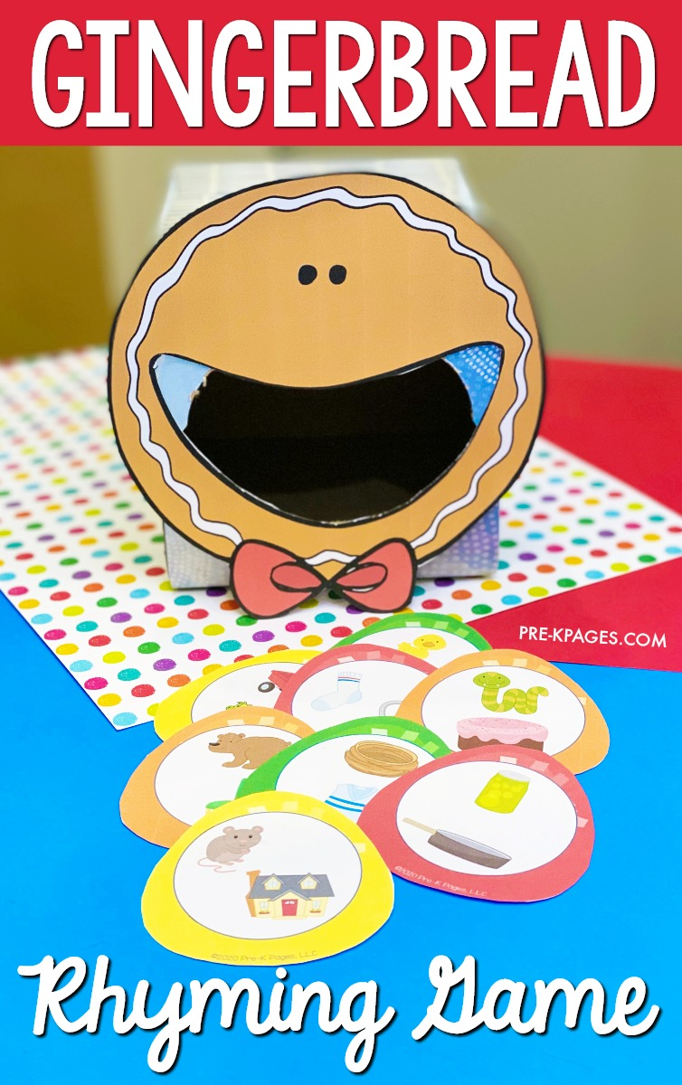 Gingerbread Rhyming Game for Pre-K