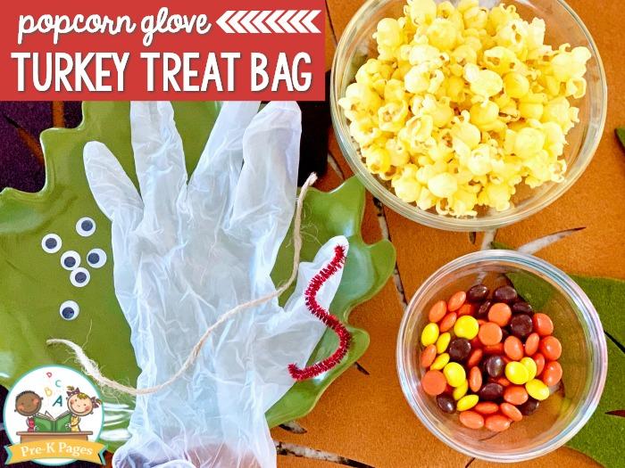 Popcorn Glove Turkey Treat Bag