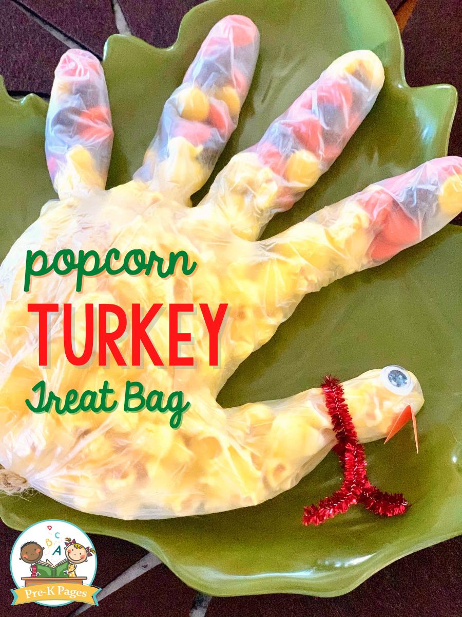 Popcorn Turkey Treat Bag