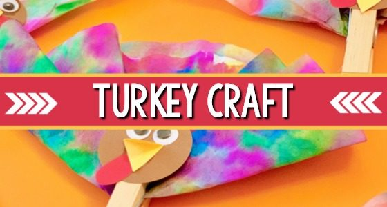 Turkey Craft for Thanksgiving with Coffee Filter