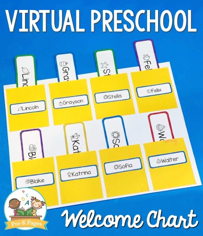 Virtual Preschool Name Chart