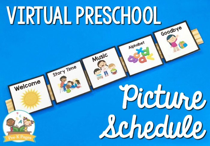 Virtual Preschool Picture Schedule