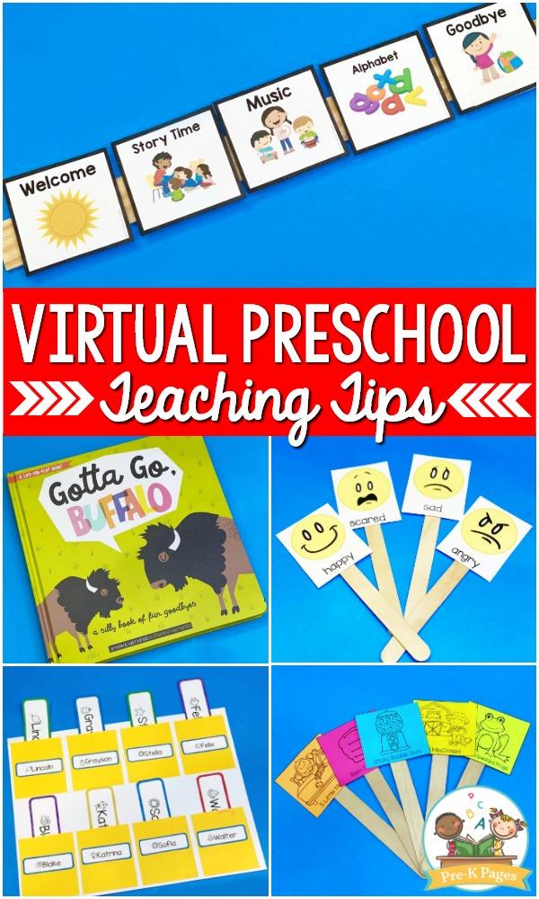 Virtual Preschool Teaching Tips