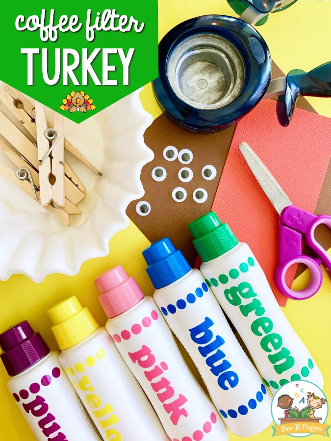 Watercolor Turkey Craft for Thanksgiving