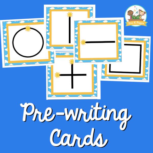 prewriting cards pre-k
