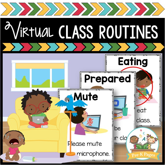 Virtual Preschool Class Rules and Routines