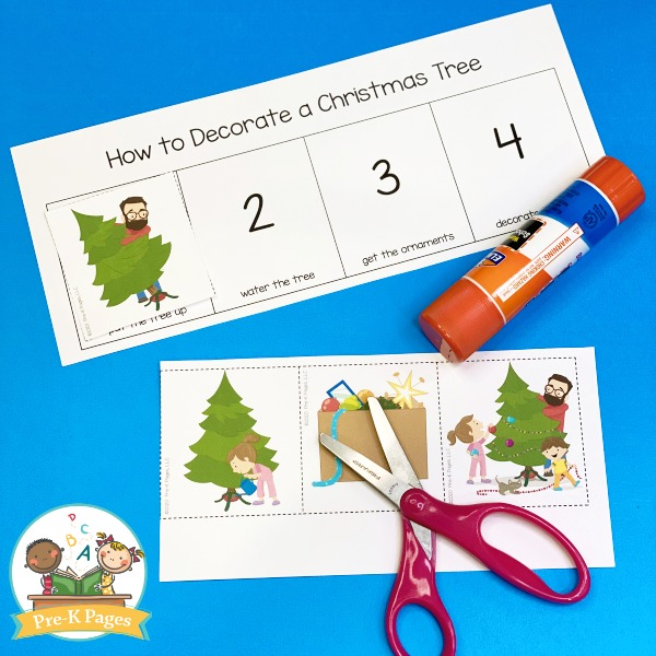 Christmas Sequencing Activity