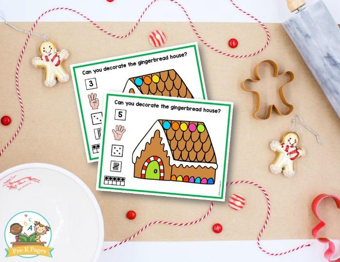 Gingerbread Man Number Sense Activity