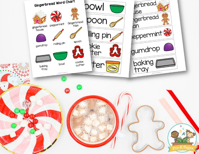 Gingerbread Vocabulary Word Cards