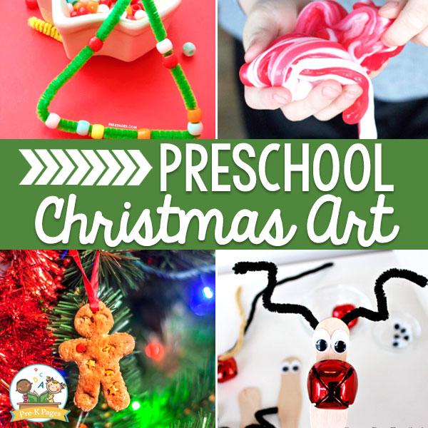 Preschool Christmas Art Ideas