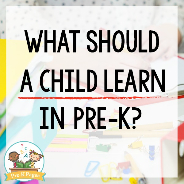 What Should a Child Learn in Pre-K