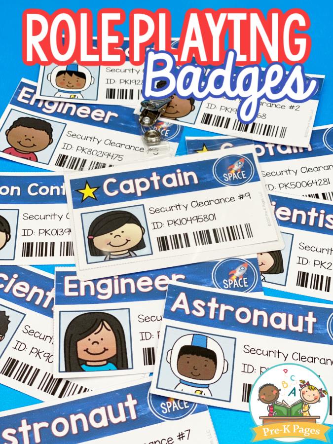 Printable Astronaut Badges