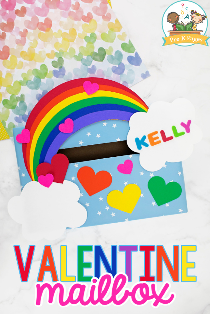 Rainbow Valentine Mailbox