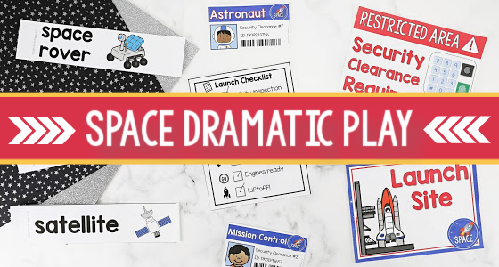 Space Station Dramatic Play Theme for Preschool
