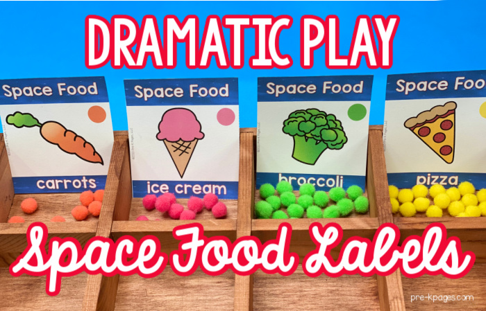 Space Food Labels for Pretend Play