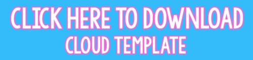 printable cloud template