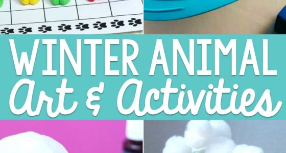 Winter Animals Art Ideas and Activities