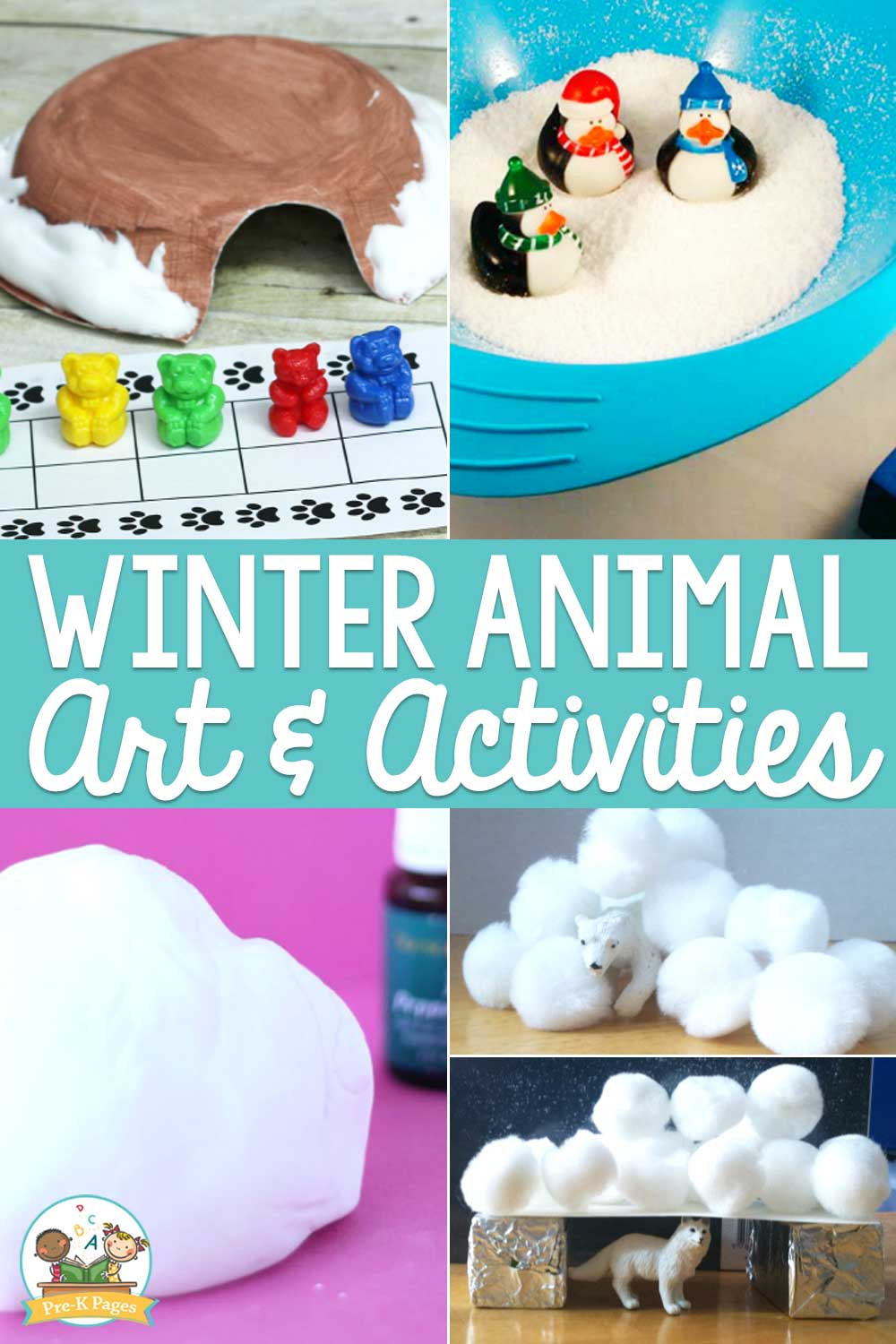winter animal art and activities