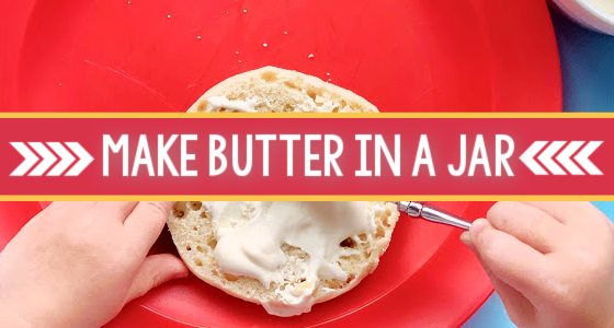 How to Make Butter with Preschool Kids
