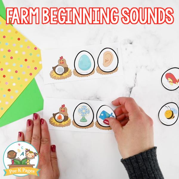 Farm Beginning Sounds Activity