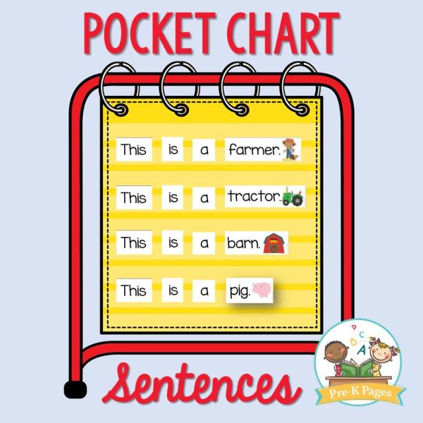 Farm Theme Pocket Chart Sentences