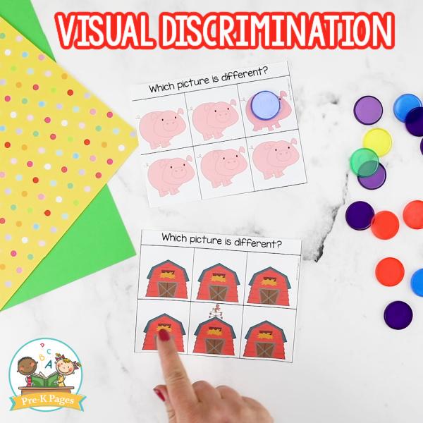 Farm Visual Discrimination Activities