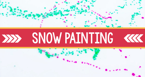 Snow Painting Winter Activity for Preschoolers
