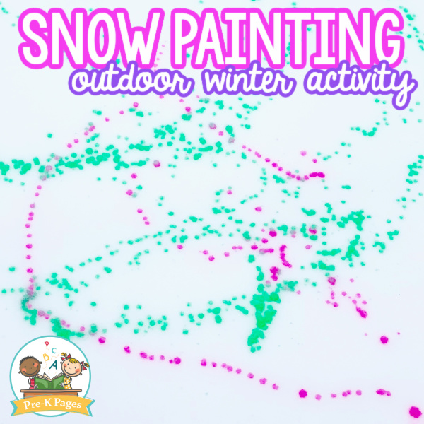 Snow Painting Outdoor Winter Activity