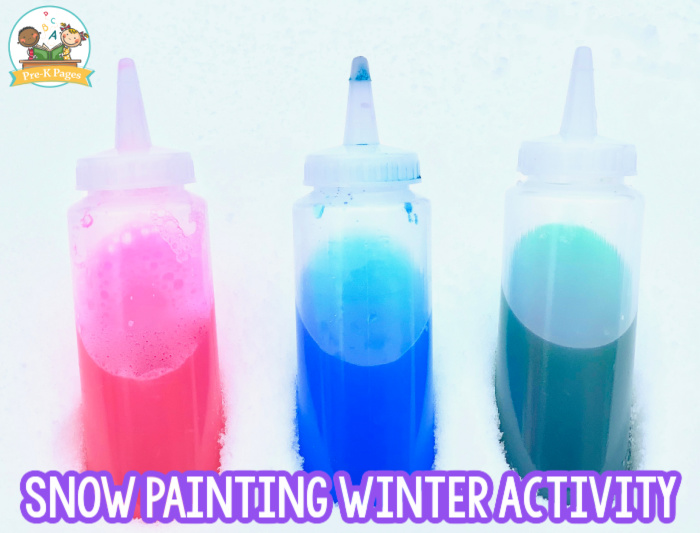 Snow Painting Winter Activity