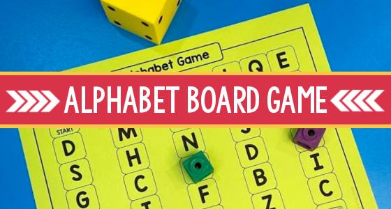 Alphabet Letter Board Game Printable