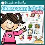 Editable Classroom Tub Labels
