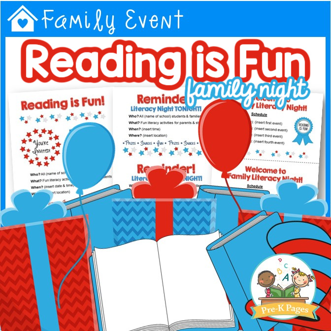 Reading is Fun Literacy Family Night