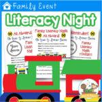 Family Literacy Night Train Theme