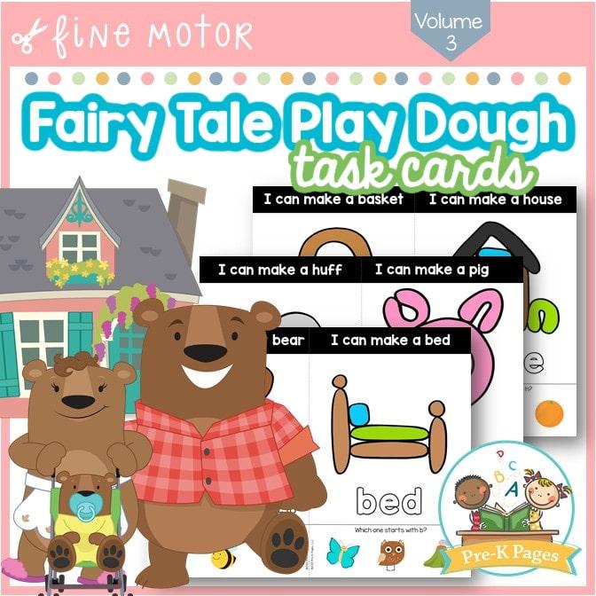 Fairy Tale Play Dough Task Cards