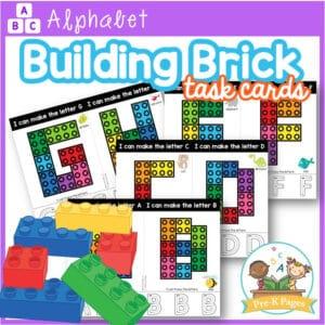 Alphabet Building Brick Task Cards