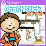 Popsicle Stick Alphabet Task Cards