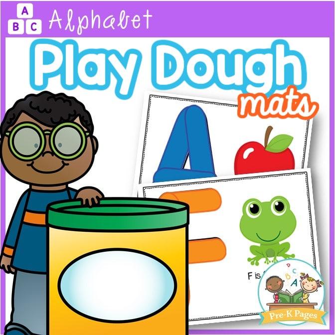 Alphabet Playdough Letter Mats