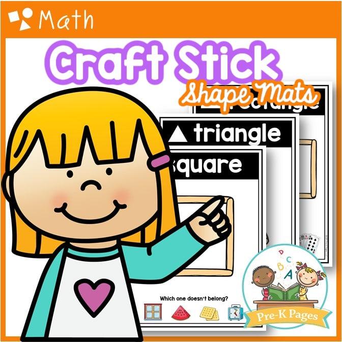 Popsicle Stick Shape Mats