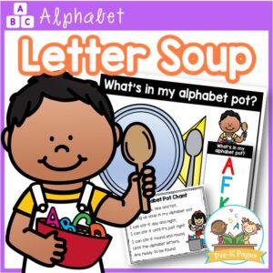 Alphabet Soup Literacy Activity | Letter Recognition for Preschool and Pre-K