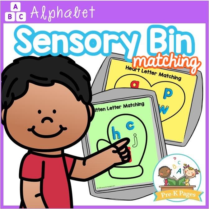 Alphabet Sensory Bin Matching Mats