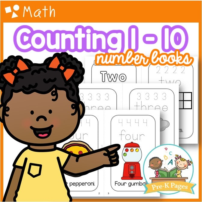 Counting Numbers 1-10 Books