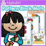 Alphabet Pattern Block Mats Uppercase