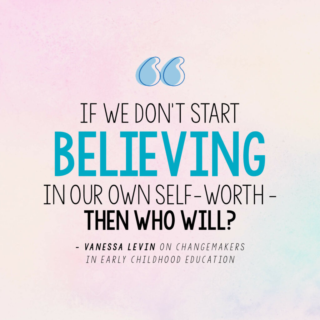 Vanessa Levin quote on believing in your own self-worth